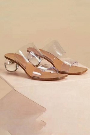 Transparent Crystal Ball Sandals