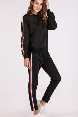 Maria Noir Sweatpants Set