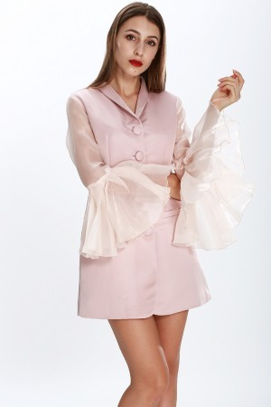 Flare Sleeves Suit Dress
