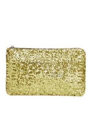Golden Sequin Clutch