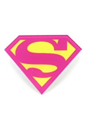 Pink Superman Badge