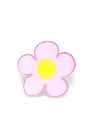 Pink Flower Brooch