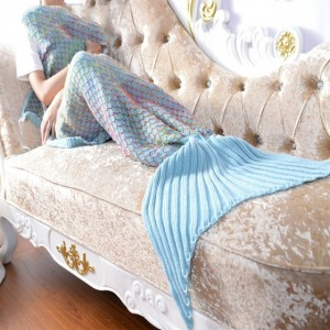 Meribella Knitted Mermaid Blanket