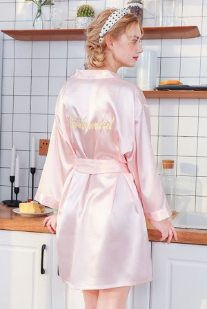Lyla Embroidered Bridesmaid Robe
