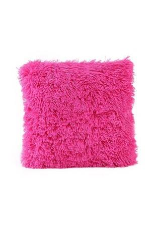 Pink Plush Cushion Cover