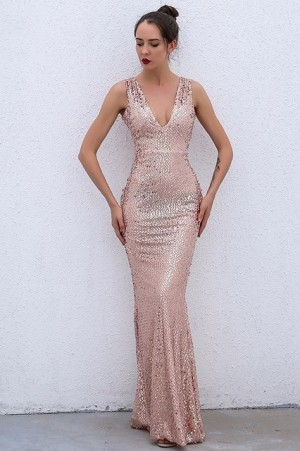 Valentina Empire Sequin Dress