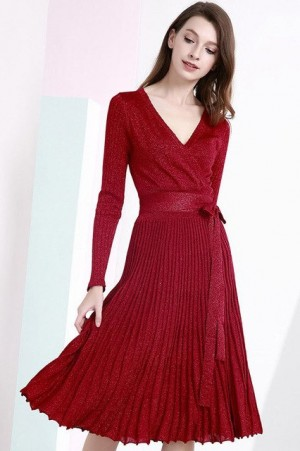 Valentina Shimmer Pleated Dress