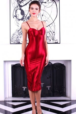 Anastasia Rouge Bustier Dress