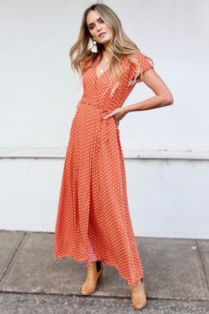 Lilah Polka Dots Maxi Dress