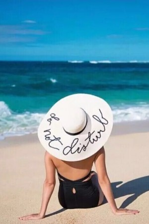 Do Not Disturb Sequin Sunhat