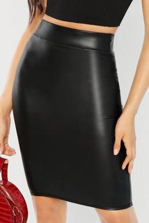 Layla Noir Leather Skirt