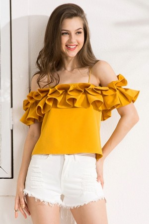 Sunshine Ruffles Top