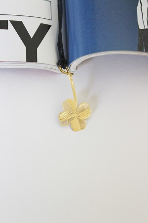 Floral 18k Gold Plated Bookmark