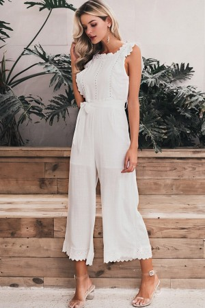 Lily Cotton Ruffle Jumpsuit