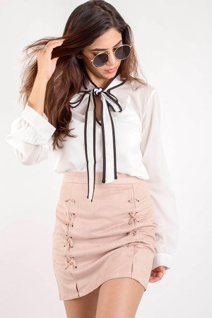 Lace Up Skirt