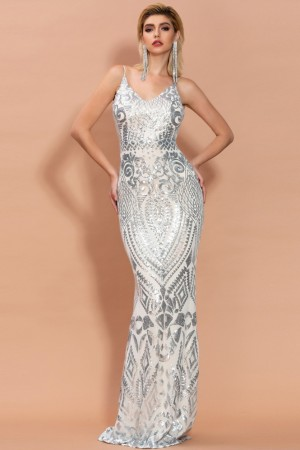 Silver Reflective Luxe Gown