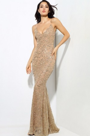 Ariana Gold Luxe Gown