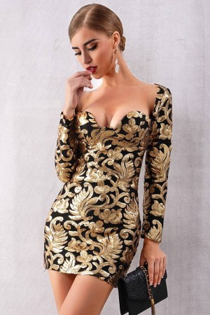 Golden Girl Noir Luxe Dress