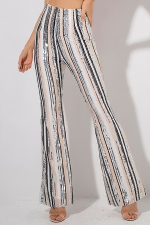 Starlet Striped Sequin Pants