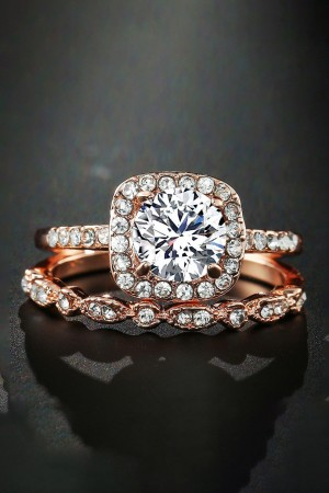 Diamante Rose Gold Rings