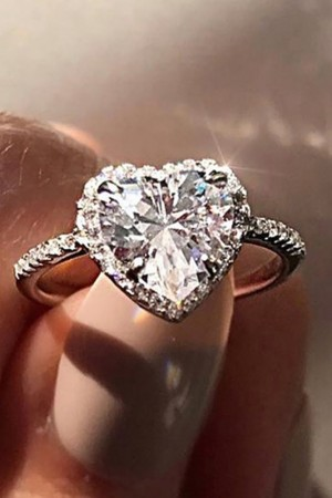 Diamante Heart Ring