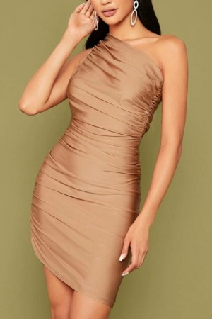 Venessa One Shoulder Ruched Dress