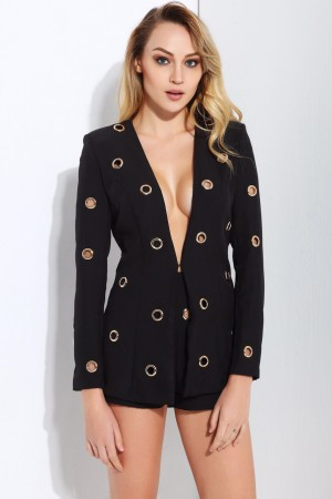 Elizabeth Noir Suit Set