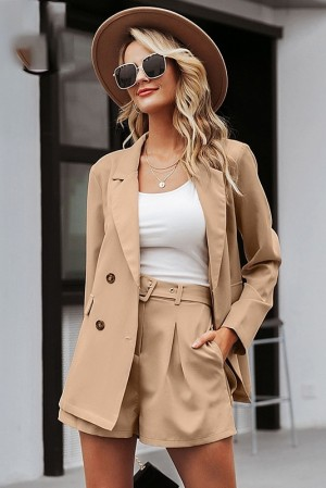 Adele Khaki Suit Set
