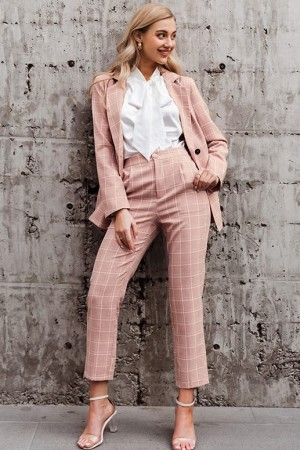 Bridgette Plaid Pant Suit