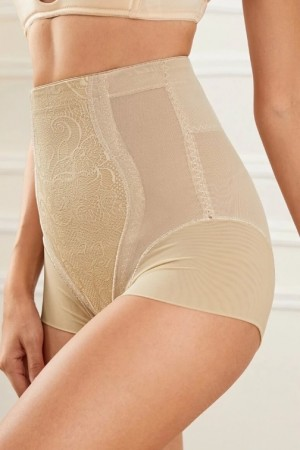 Floral Lace High Waist Shapewear