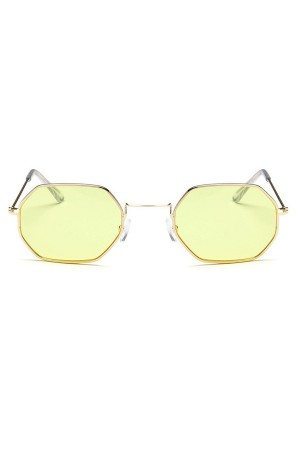 Yellow Hexagon Sunglasses