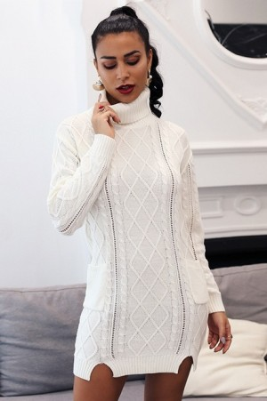 Chloe Turtleneck Knitted Dress