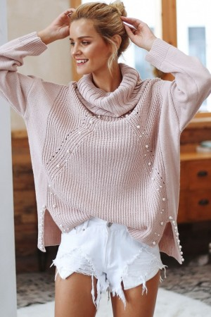 Rose Pearl Knitted Pullover