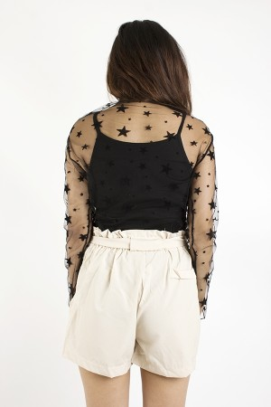 Star Sheer Lace Top