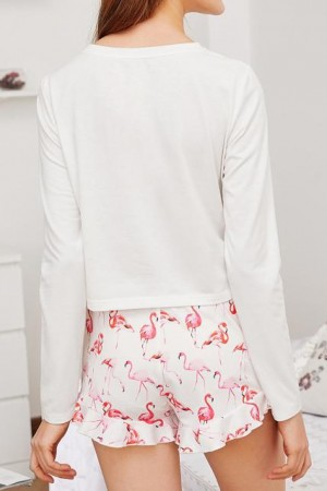 Flamingo Tee & Shorts Set