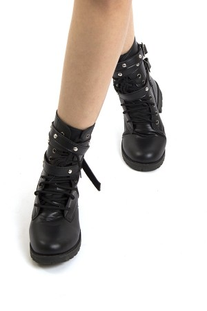 Leather Rivet Boots