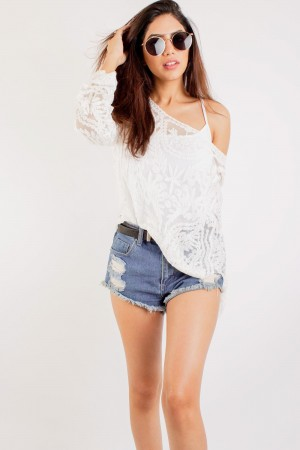 Floral Lace Crochet Top
