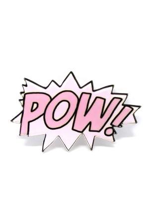 Pink Pow Brooch