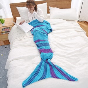 Blu Marine Knitted Mermaid Blanket
