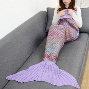 Oceane Knitted Mermaid Blanket