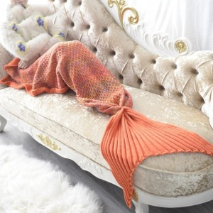 Marcelline Knitted Mermaid Blanket