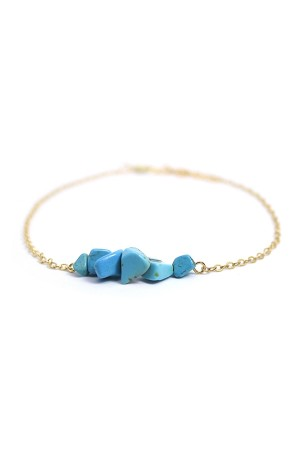 Azul Stone Anklet