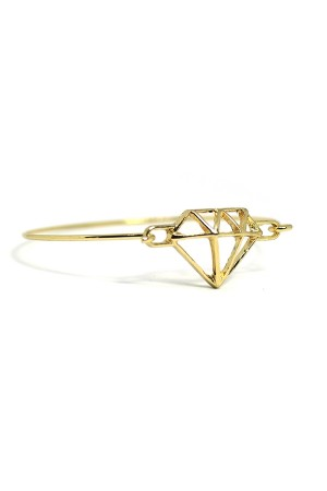 Diamante Gold Cuff