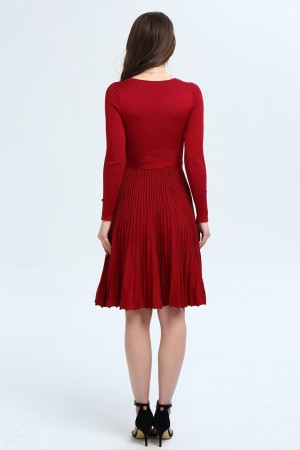 Luxe Pleated Knit Dress