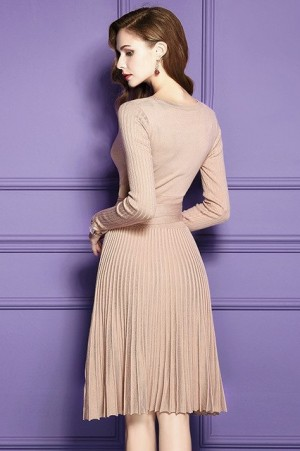 Frances Luxe Pleated Dress