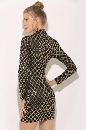 Beyonce Metallic Sequin Dress