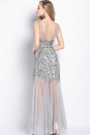 Gatsby Silver Sequin Dress
