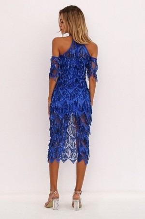 Layla Tassel Sequin Dress
