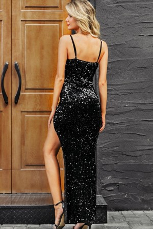 Grace Noir Sequin Dress