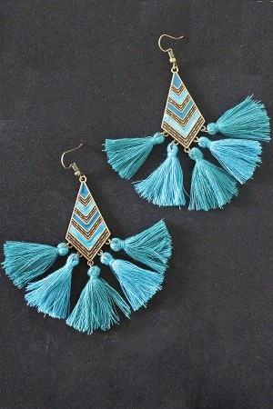 Zelena Tassel Earrings